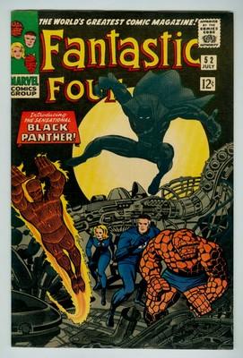 Fantastic Four #52 NM 9.4 OW/W 1966 Marvel Black Panther 1st appearances