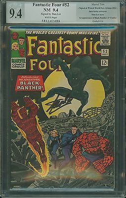 Fantastic Four #52 PGX 9.4 SS Stan Lee Sig LIKE CGC 9.4  ( 1ST BLACK PANTHER )