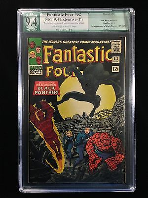 9.4 PGX Fantastic Four #52 EP Rated Black Panther Silver Marvel Key