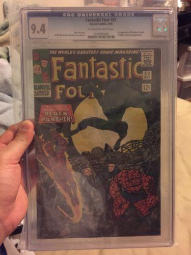 Fantastic Four #52 (Jul 1966, Marvel) 1st Black Panther CGC 9.4