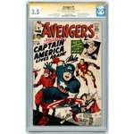 Avengers #4 SS CGC 3.5 Signed by Stan Lee & Joe Simon