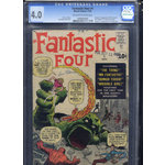 Fantastic Four #1 Cgc 4.0 off white -white Marvel Key
