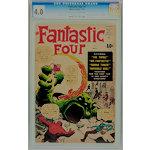 Fantastic Four #1 CGC 4.0 OW/W Key comic book (Silver Age Marvel, 1961)