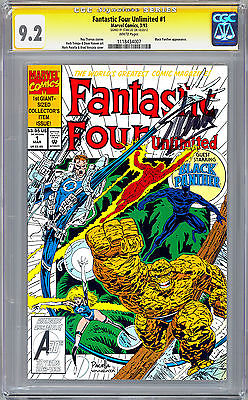 FANTASTIC FOUR UNLIMITED #1 CGC-SS 9.2 PREMIERE ISSUE SIGNED BY STAN LEE 1993
