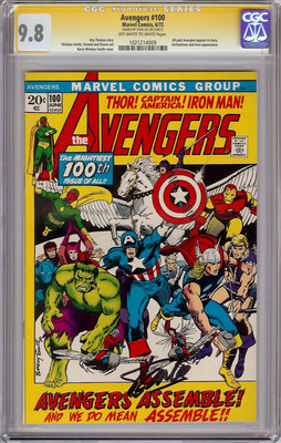 AVENGERS #100 CGC 9.8 SS SIGNATURE SERIES SIGNED STAN LEE IRON MAN THOR 1972