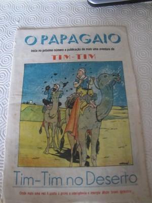 TINTIN HERGE VERY RARE 1942 O PAPAGAIO PORTUGUESE  NUMBER 365 MAGAZINE