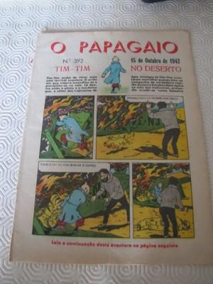 TINTIN HERGE VERY RARE 1942 O PAPAGAIO PORTUGUESE  NUMBER 392 MAGAZINE