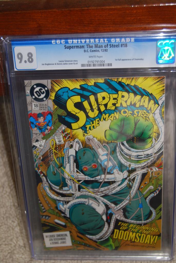 Superman: The Man of Steel #18 CGC 9.8 DC 1992 1st Doomsday C8 194 1 cm