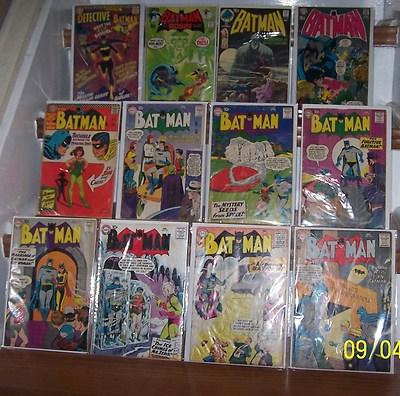 DC BATMAN COMICS SILVER AGE LOT 119,120,121,122,123,124,125,181,222,227,232,359