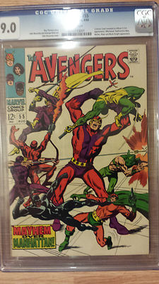 avengers 55 - cgc 9.0 White pages
