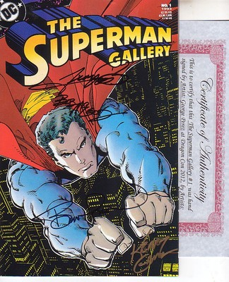 The Superman Gallery #1 SIGNED by Steranko Perez Gammill McLeod & Wrightson COA