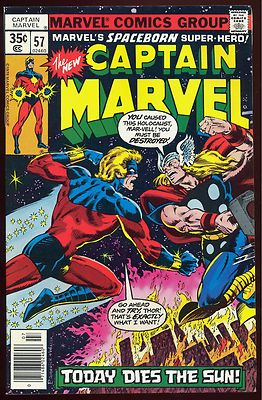 CAPTAIN MARVEL #57 1978 NM 9.4 Cap vs Thor Guardians of the Galaxy Avengers