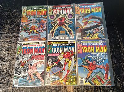 Lot O 6 Iron Man Bronze Age Marvel Comics # 118 119 120 121 122 123 Great Issues