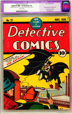 Detective Comics 27 CGC 9.2 NM- Near Mint EP First Appearance of Batman DC 1939