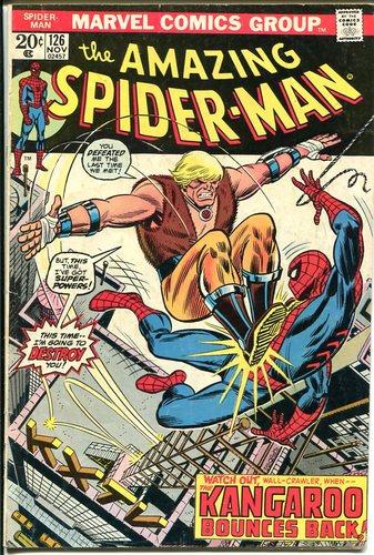 Marvel Comics THE AMAZING SPIDER-MAN #126 VERY GOOD Bronze Age X-MEN  IRON MAN