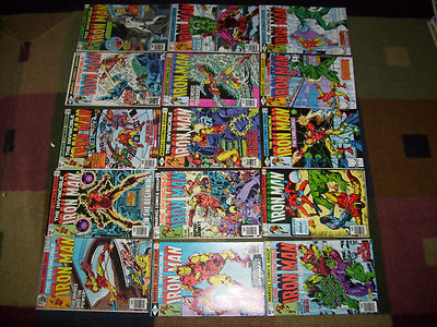 15 bronze age Iron Man comic lot 120-127,129,130,131,132,133,134,135 and 136