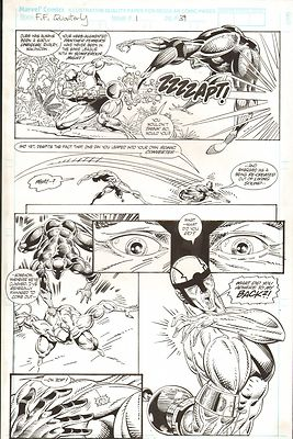 FANTASTIC FOUR UNLIMITED #1 PAGES 39 & 41 SPLASH COMIC ORIGINAL ART HERB TRIMPE