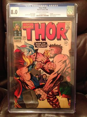 Thor #126 CGC 8.0 1st issue Like Hulk 102 Captain America 100 Iron Man 1
