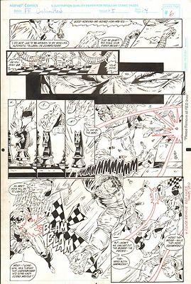 FANTASTIC FOUR UNLIMITED #5 PAGES 6 & 7 COMIC ORIGINAL ART HERB TRIMPE