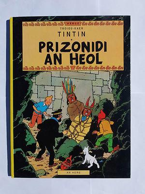Tintin BRETON Le temple du soleil EO 1989 AN HERE RARE TBE