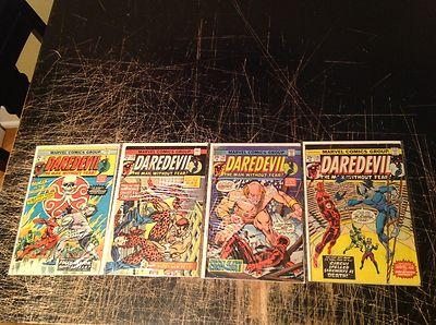 Lot Of 4 Daredevil Marvel Comic Books # 118 119 120 121 Captain America Issue