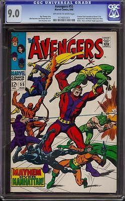 Avengers #55...CGC 9.0 VF/NM...First Ultron