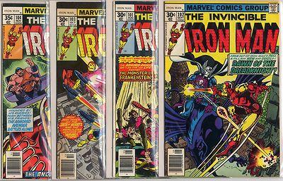 Iron Man #101 - 150 complete run avg VF+ 8.5  Marvel  1977  No Reserve