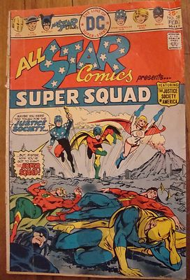 DC All-Star Comics #58 (Jan-Feb 1976) First appearance of Power Girl