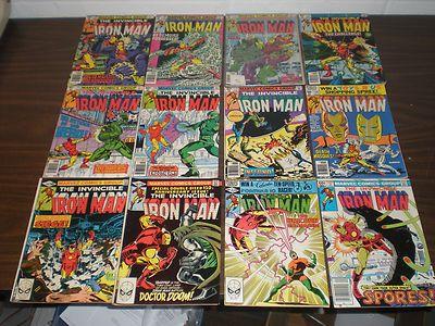 Iron Man #129 130 132 134-137 139 148 150 154 157 High Grade Run Lot