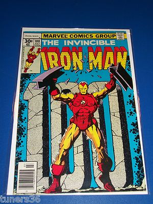 Iron Man #100 Bronze Age Key Issue Solid VG
