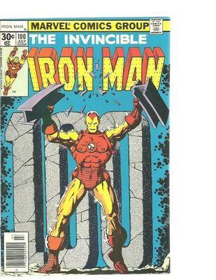 IRON MAN  #100   MARVEL  1977  JIM STARLIN COVER  NICE