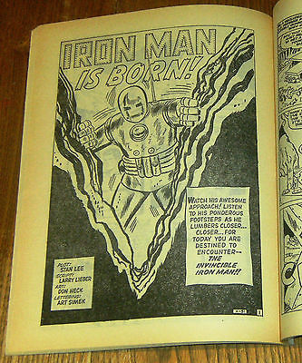 Tales Of Suspense 39 1st Iron Man in Sinister Tales 84 Alan Class 1965 Marvel