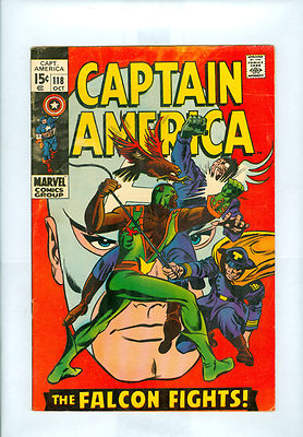 Captain America #118 FN- Colan Sinnott Falcon Red Skull Super Bright