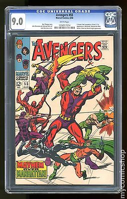Avengers (1963 1st Series) #55 CGC 9.0 (1104717014)