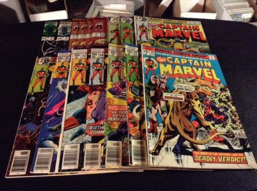 CAPTAIN MARVEL 16 BKS 39 54 56 57 58 59 60 61 62 + MARVEL 1975 VF-