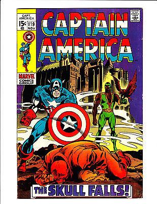 Marvel Captain America #118 KEY 3rd Falcon Red Skull Falls cover NICE COPY