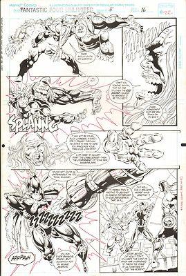 FANTASTIC FOUR UNLIMITED #5 PAGES 22 & 23 COMIC ORIGINAL ART HERB TRIMPE