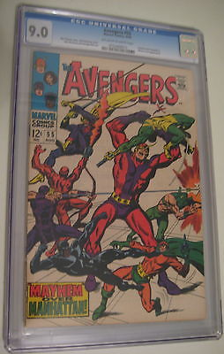 AVENGERS # 55 CGC 9.0  1st ULTRON  ow-white pages Great copy