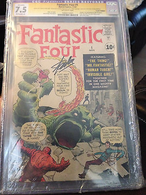 FANTASTIC FOUR #1 CGC GRADED 1ST FANTASTIC FOUR SIGNED BY STAN LEE MAKE OFFER
