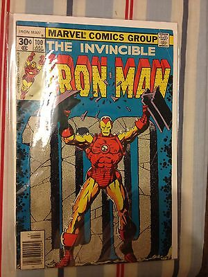 Iron Man #100 - Marvel Comics - July 1977 - 1st Print