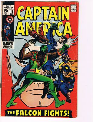 Captain America # 118 VG Marvel Comic Books Hi-Res Scans 2nd App Of Falcon WOW
