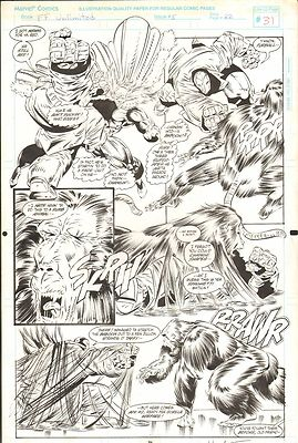 FANTASTIC FOUR UNLIMITED #5 PAGES 31 & 33 COMIC ORIGINAL ART HERB TRIMPE