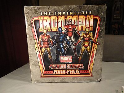 BOWEN DESIGNS - IRON MAN STATUE - 25 OF 300 HALL OF ARMOR 4 PACK - WEB EXCLUSIVE