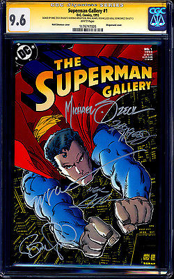 Superman Gallery CGC SS 9.6 signed x5 Zeck Adams Wrightson McLeod Sienkiewicz