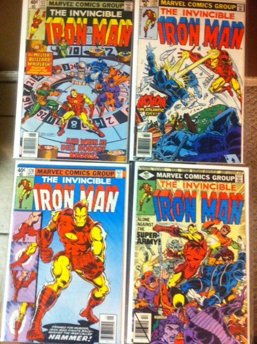 Iron Man Comic Lot Of 4 #123,124,126,127 Fine