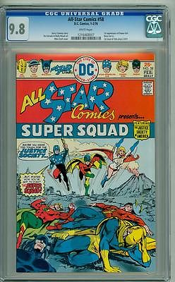 ALL-STAR COMICS #58 CGC 9.8 WHITE PAGES FIRST POWER GIRL
