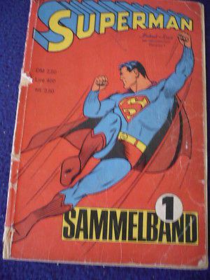 Superman Sammelband Nr 1 Heft 1-4  1966 Ehapa Verlag