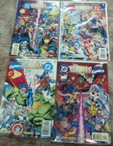 DC Versus Marvel / Marvel Versus DC #1-4 Complete set VF/NM (Feb 1996, DC)