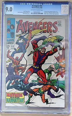 THE AVENGERS # 55 MARVEL 1968 CGC 9.0 1ST FULL ULTRON