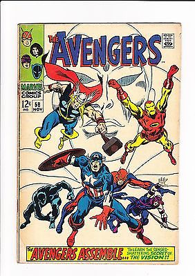 The Avengers #58 | Vision joins Avengers | Huge Avengers run 99p No Reserve